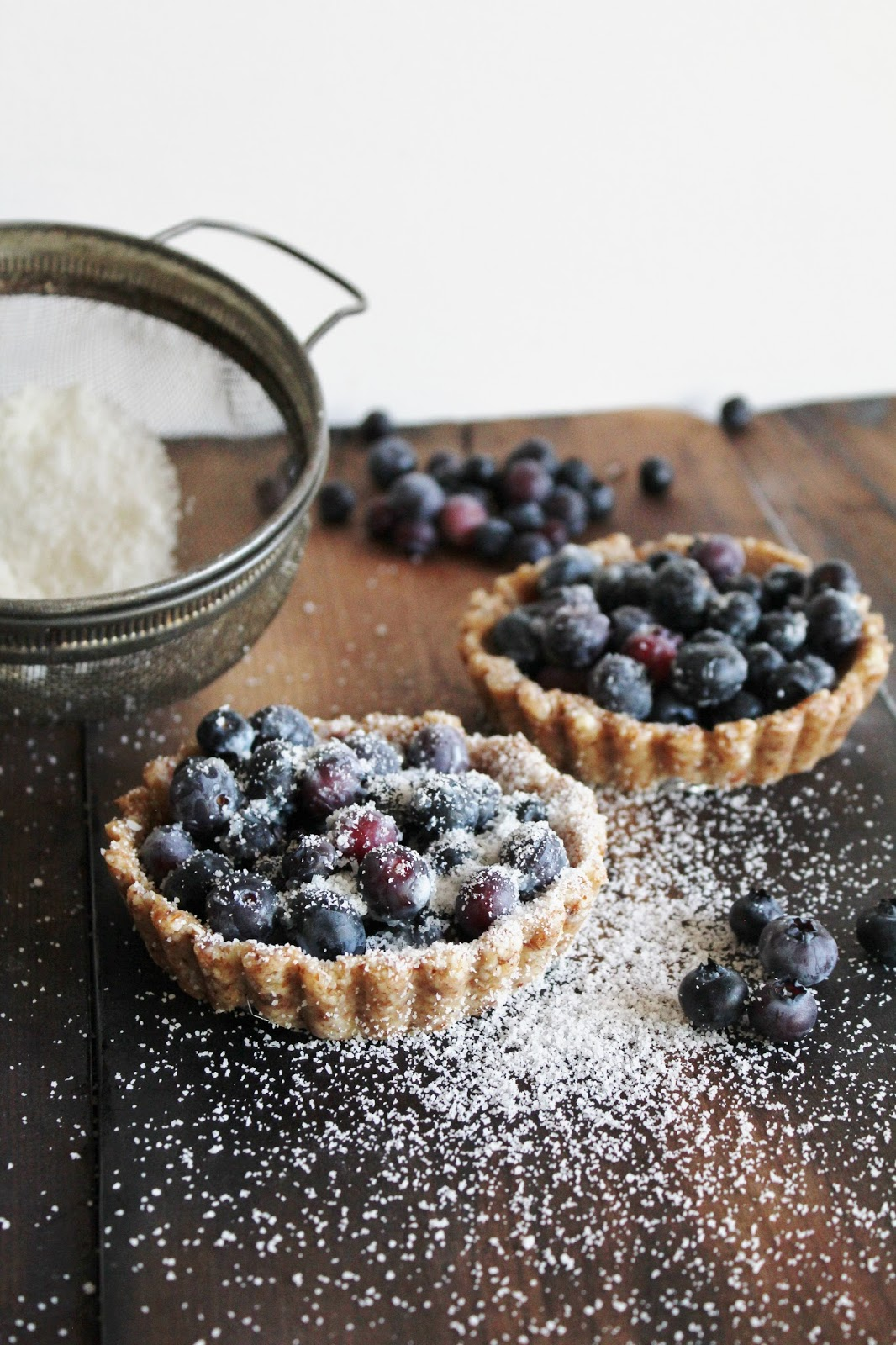 Blueberry Tarts For Two from This Rawsome Vegan Life